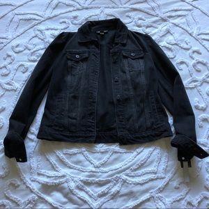 Cute & plain black denim jacket from Nordstrom's